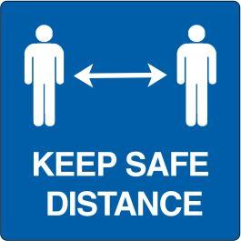 """Keep safe distance""-sticker (Maxi-Loka Premium)"