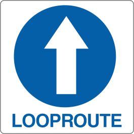 """Vloerpictogram """"looproute verplicht"""""""