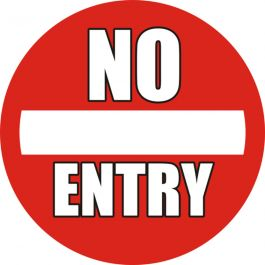"Anti-slip-vloerpictogram ""No Entry"""