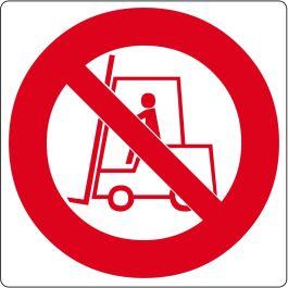 """Vloerpictogram """"verboden voor heftrucks"""""""