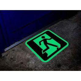 Nooduitgang pictogram glow-in-the-dark