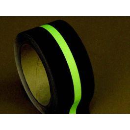 Anti-sliptape (zwart) met glow-in-the-dark-streep