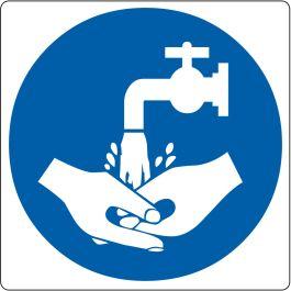 """Vloerpictogram """"handen wassen verplicht"""""""