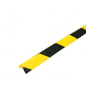 PRS stootrand hoekprofiel model 45 – geel-zwart – 1 meter