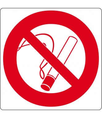 """Vloerpictogram """"verboden te roken"""""""