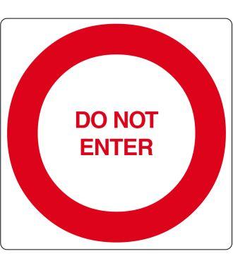 """Vloerpictogram """"Do Not Enter"""""""