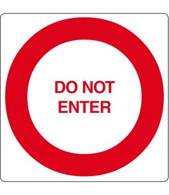 "Vloerpictogram ""Do Not Enter"""
