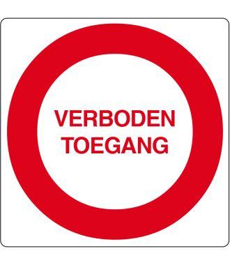 """Verboden toegang""-sticker (Maxi-Loka Premium)"