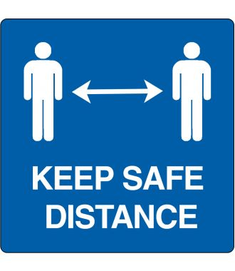 """Keep safe distance""-sticker (Maxi-Loka Premium)"