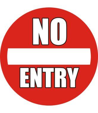 """Anti-slip-vloerpictogram """"No Entry"""""""