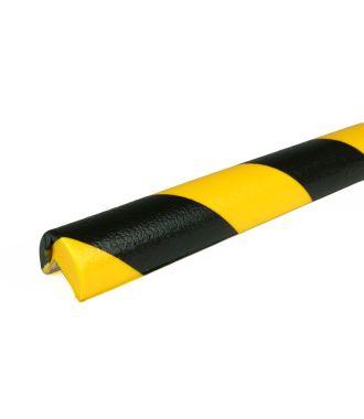 PRS stootrand hoekprofiel model 1 – geel-zwart – 1 meter