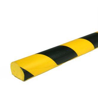 PRS stootrand vlakprofiel model 3 – geel-zwart – 1 meter