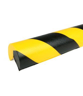 PRS stootrand hoekprofiel model 4 – geel-zwart – 1 meter