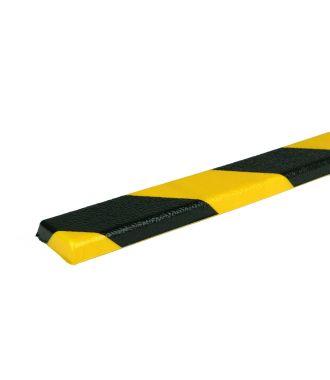 PRS stootrand vlakprofiel model 44 – geel-zwart – 1 meter