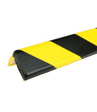 PRS stootrand hoekprofiel model 8 – geel-zwart – 1 meter