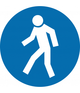 """Anti-slip-vloerpictogram """"verplicht voetpad"""""""