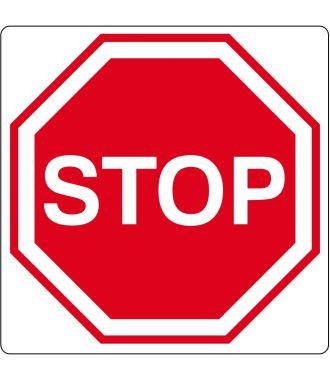 """Vloerpictogram """"stop""""-teken"""