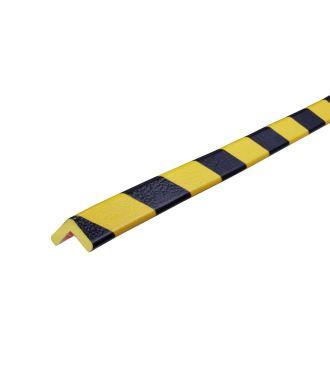 Knuffi stootrand hoekprofiel type E – geel-zwart – 5 meter
