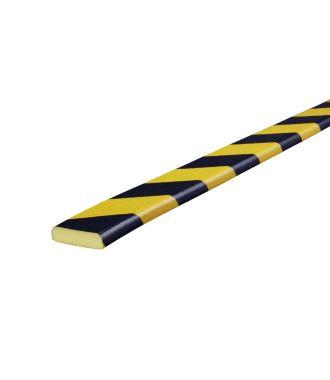 Knuffi stootrand vlakprofiel type F – geel-zwart – 5 meter