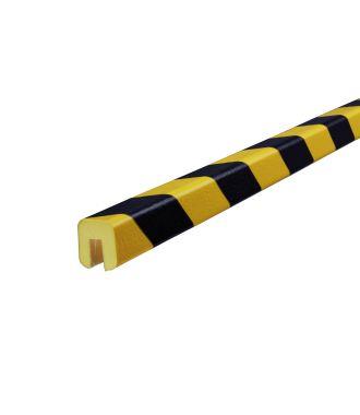 Knuffi stootrand randprofiel type G – geel-zwart – 5 meter