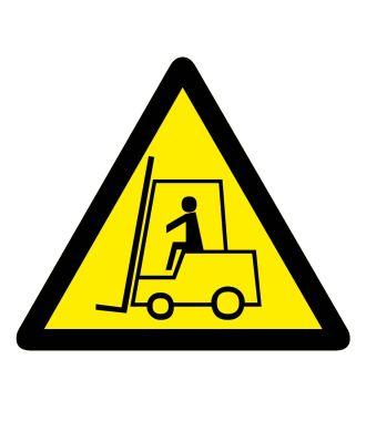 """Premark thermoplastische markering, waarschuwingsbord """"let op: heftrucks"""""""