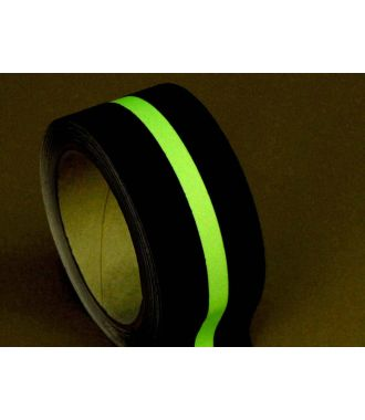 Anti-sliptape (zwart) met glow-in-the-dark-streep