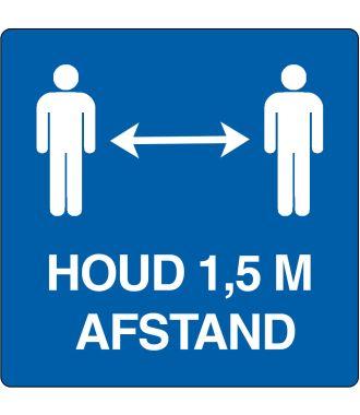 """Houd 1,5 m afstand""-sticker (Maxi-Loka Premium)"