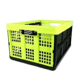 Plooibox 46 liter lime-zwart