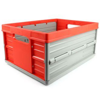 Plooibox 32 liter rood-grijs