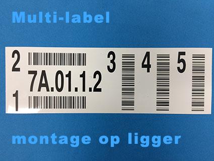 Horizontaal multi barcode label